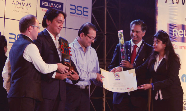 The Award & Certificate handed over to Mukul at The Telegraph INFOCOM SME Awards 2014