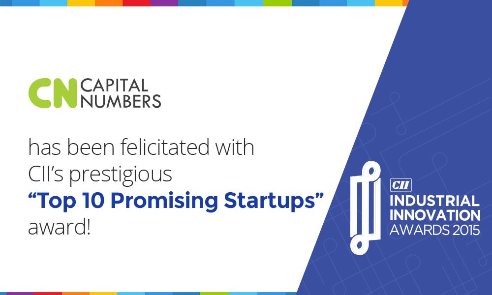 Capital Numbers awarded CII Innovation Awards 2015