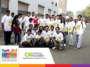 Team Capital Numbers at Run for Education