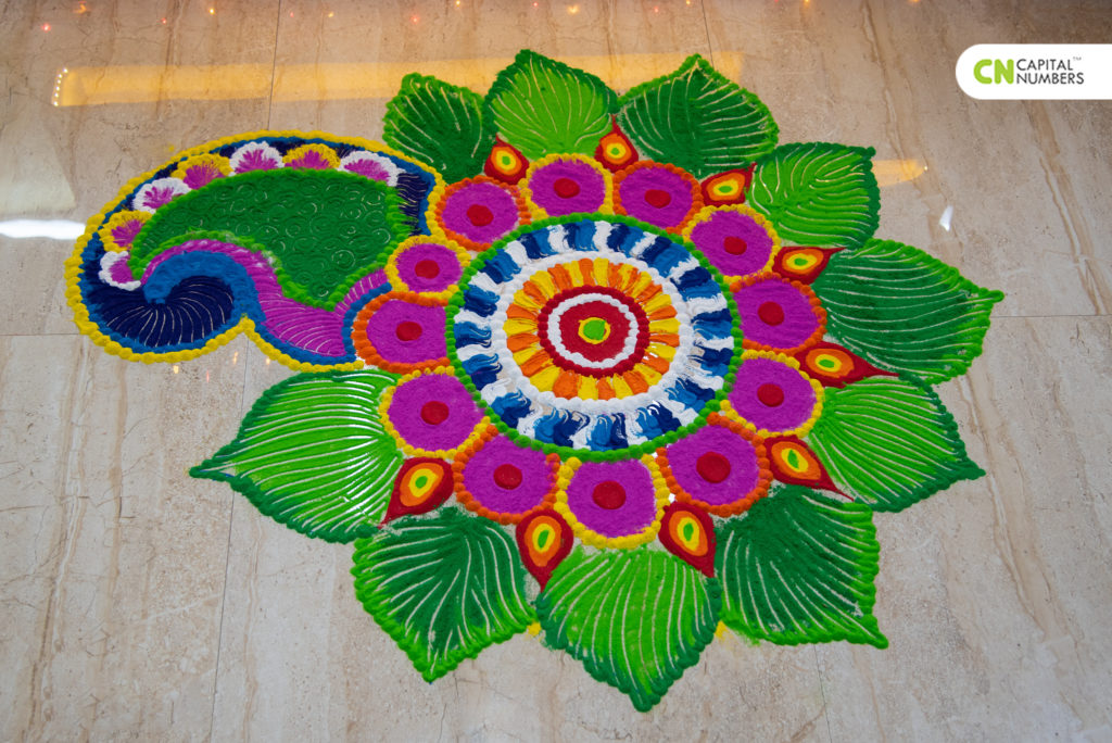 Colorful Rangoli @Office