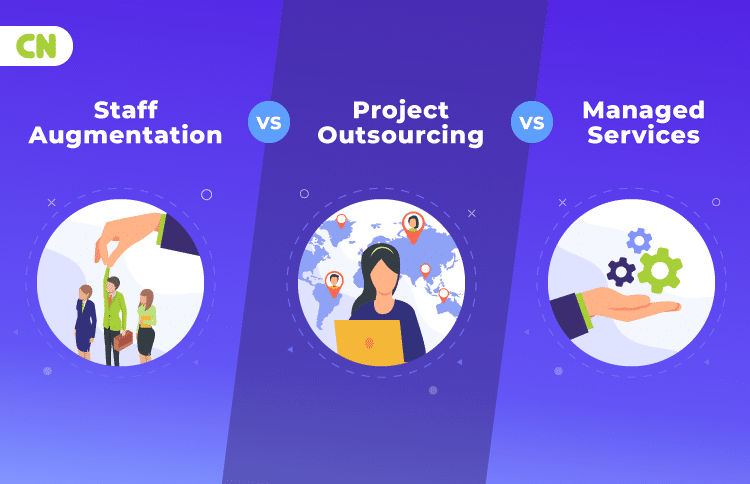 Staff Augmentation vs Project Outsourcing vs Managed Services