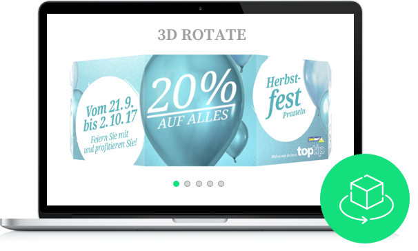 3D rotate slider layout